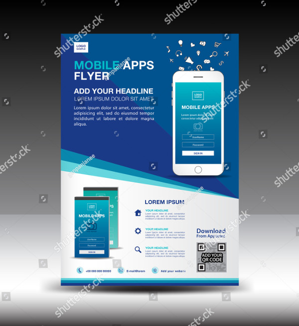 Mobile Apps Flyer Template