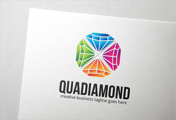 Quad Diamond Logo Design