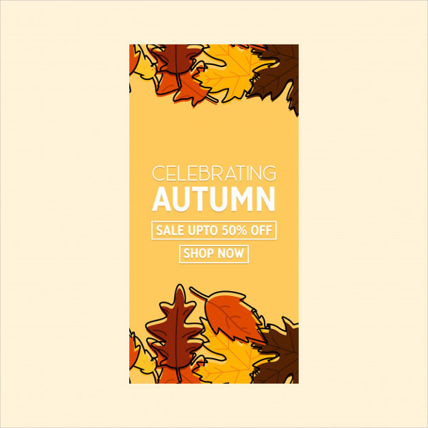 Retro Autumn Season Brochure Design Free