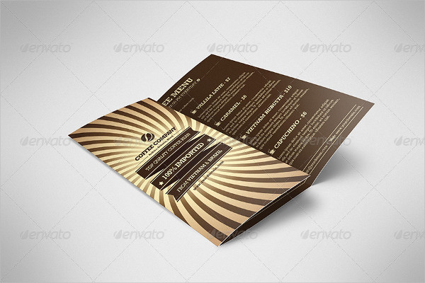 Retro Coffee Brochure Template