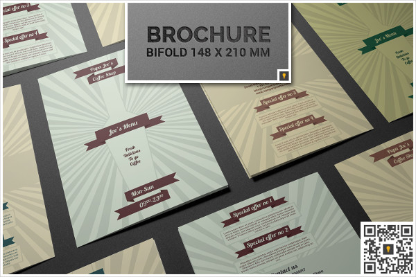Retro Coffee Shop Menu BiFold Brochure