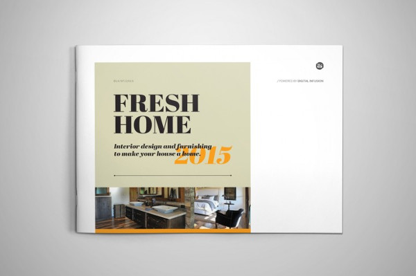 Retro Interior Design Brochure