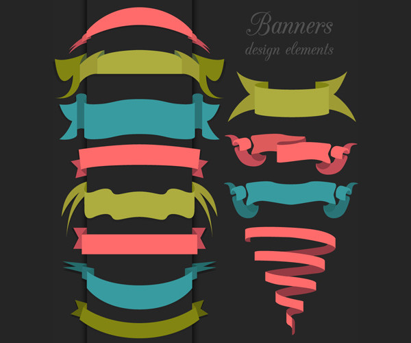 Ribbon Vintage Banner Design Free Download