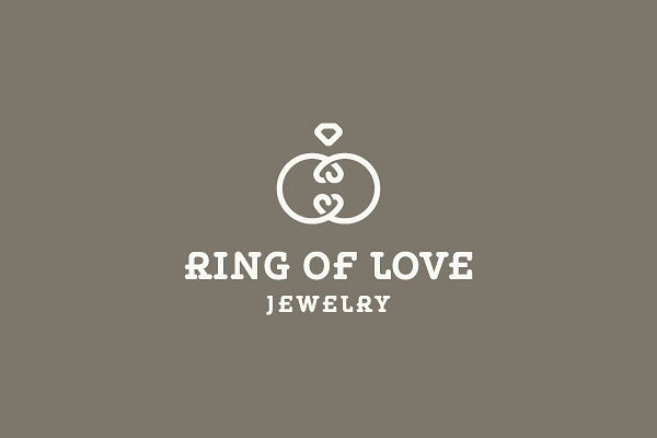 Ring Of Love Jewelry Store Logo