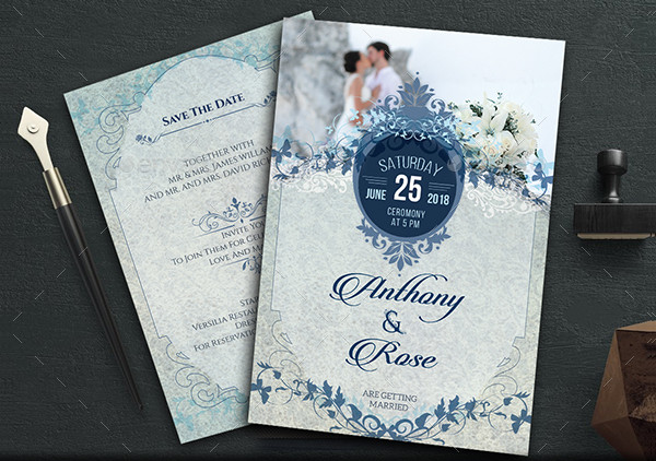 Traditional And Modern Wedding Invitation