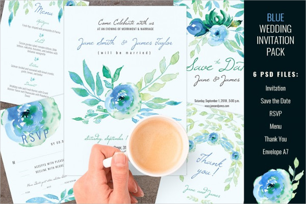 Traditional Wedding Invitation Templates Pack