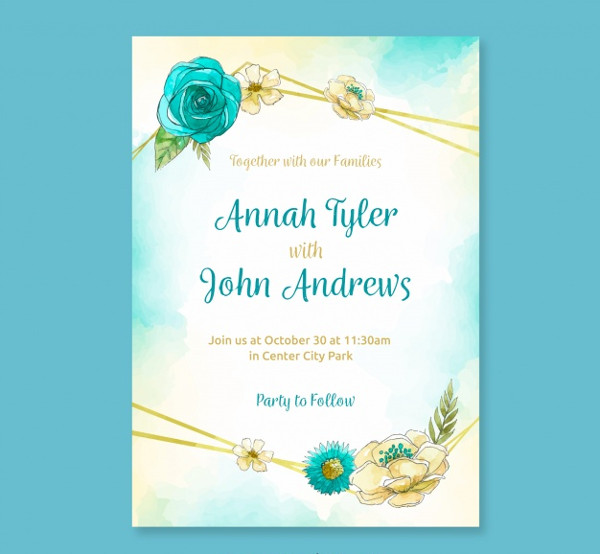 Traditional Wedding Invitation Template Free Download