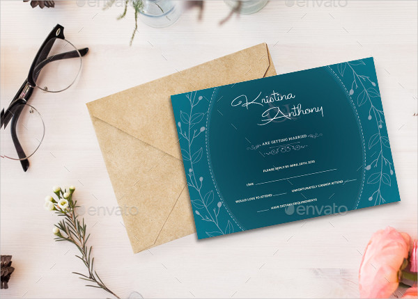 Traditional Wedding Party Invitation
