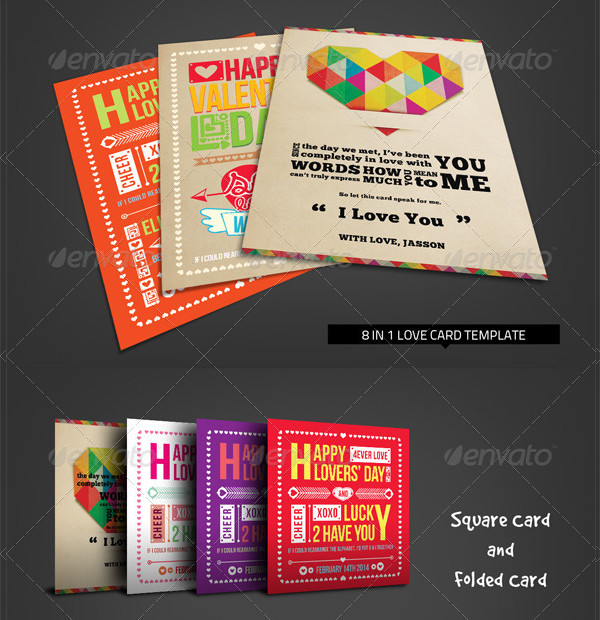 Valentine Love Card Bundle