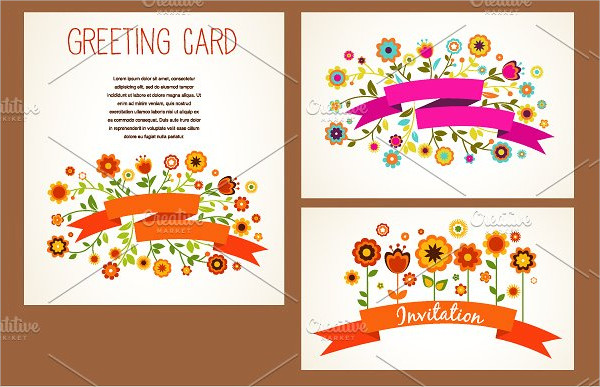 Vector Baby Greeting Card Templates Set
