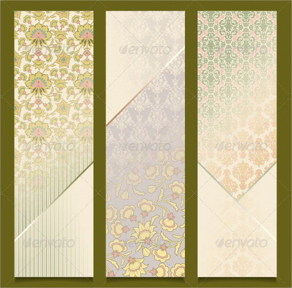 Vintage Vector Banners Retro Pattern Design
