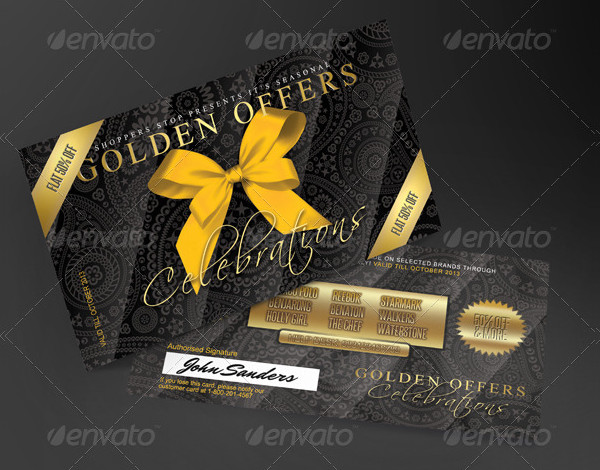 Gift Card or Loyalty Card Template