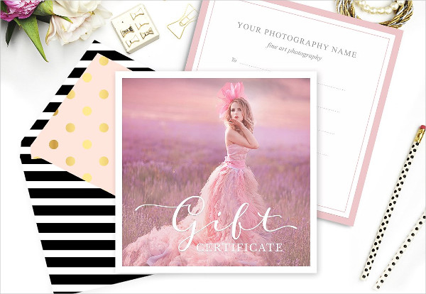 PSD Gift Card Template for Photographers