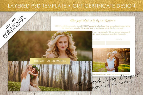 PSD Photo Gift Card Template