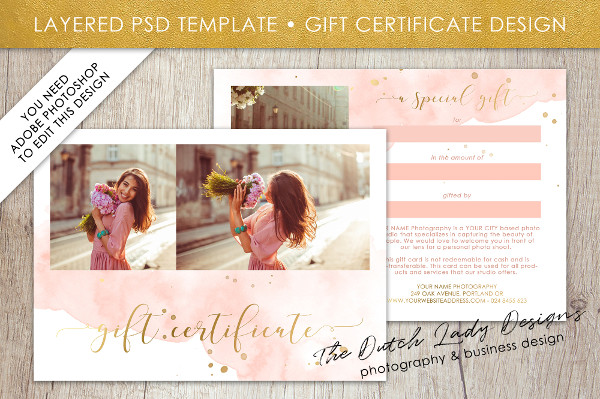 Photoshop Gift Card Template