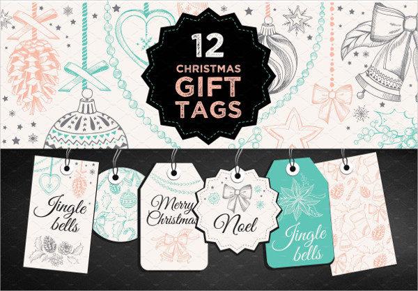 12 Christmas Gift Tag Templates