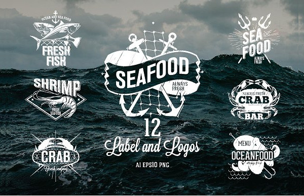12 Seafood Labels and Logos