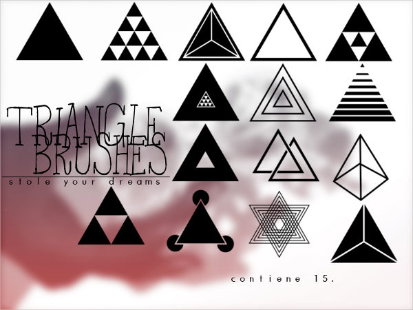 15 Triangle Brushes Free Download