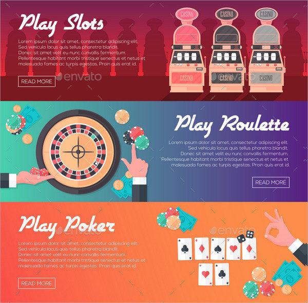 3 Casino Banners Design