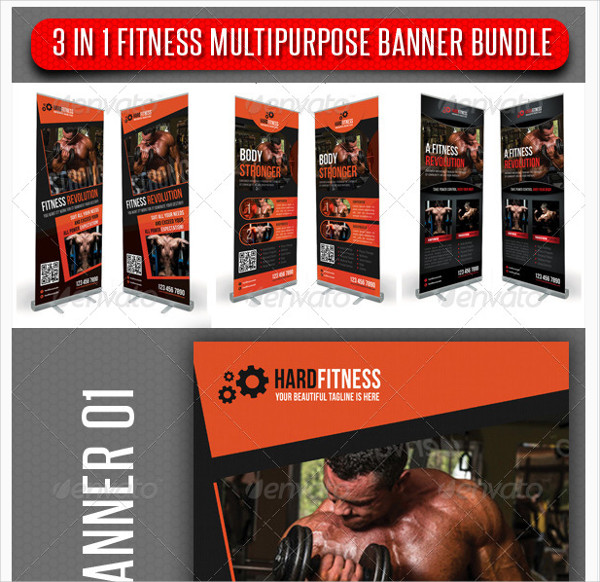 3 in 1 Fitness Multipurpose Banner Bundle