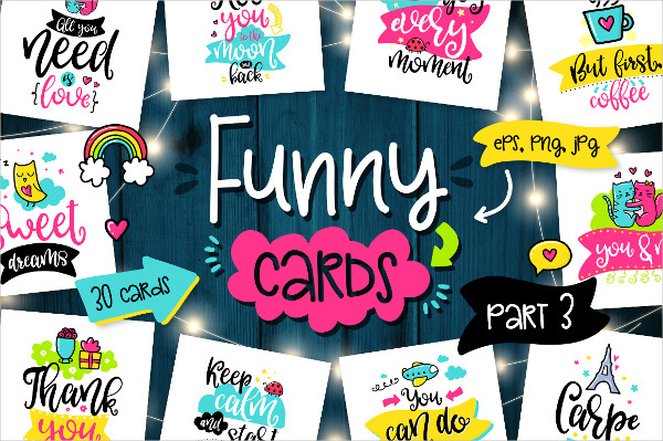 30 Funny Cards Template