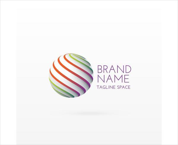 3D Circle Logo Concept Design Art Free