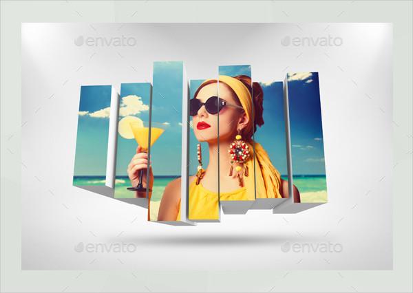 3D Photo Box Templates Bundle
