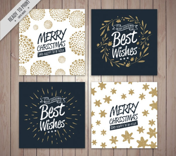 4 Christmas Cards Collection Free Download