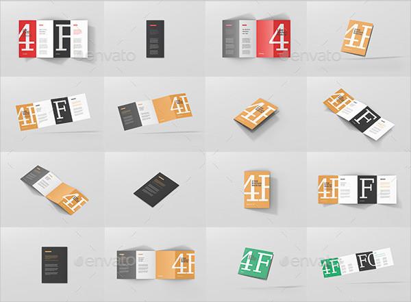4-Fold Brochure Mockups Bundle