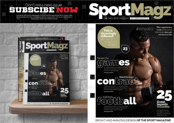 4 Sports Magazine Templates