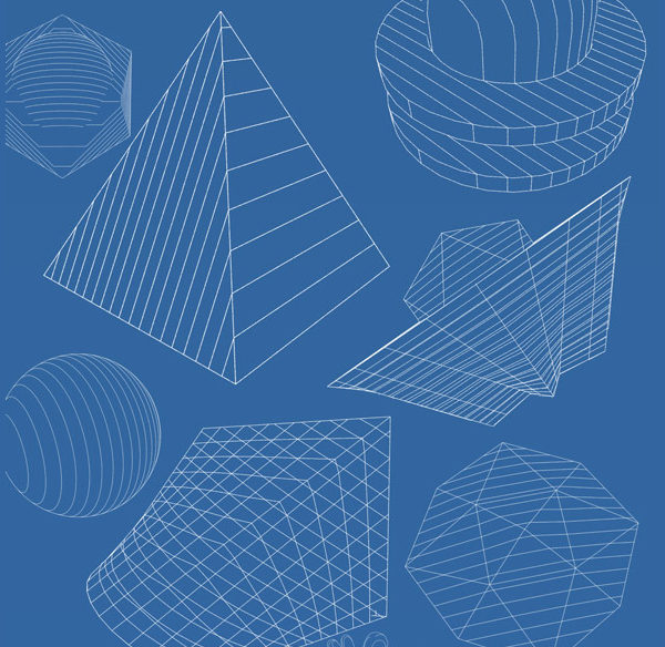 45 Abstract Geometric Brushes