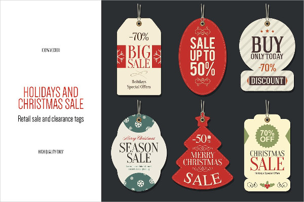 6 Christmas Retail Sale Tags
