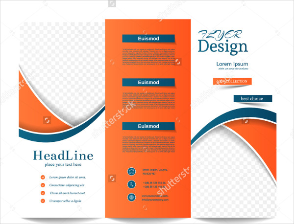 Abstract Trifold Brochure for Corporate Business