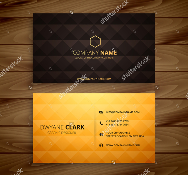 Diamond Shapes Visiting Cards