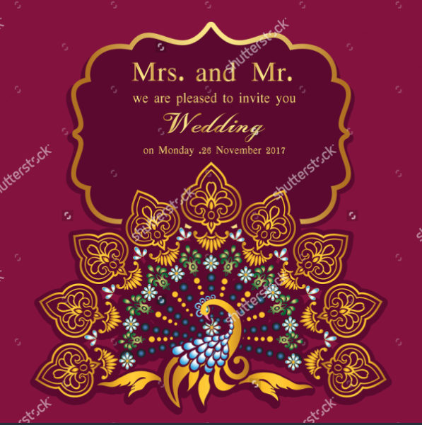 Abstract Wedding Cards Template
