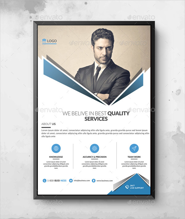 Easy to Edit Corporate Poster Template