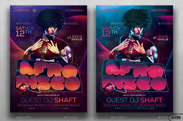Afro Disco Poster or Flyer