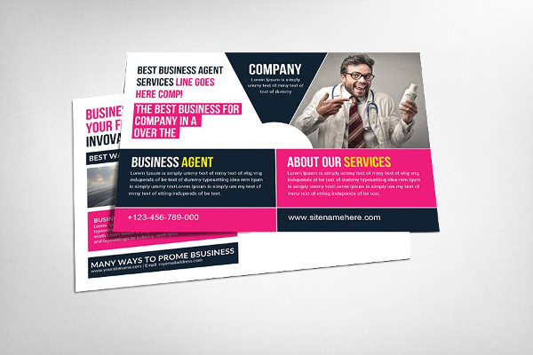 Best Business Agency Postcard Template