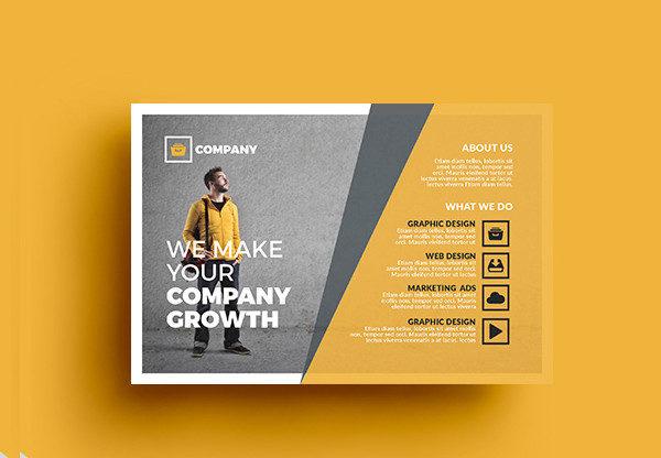 Business Agent Postcard Template