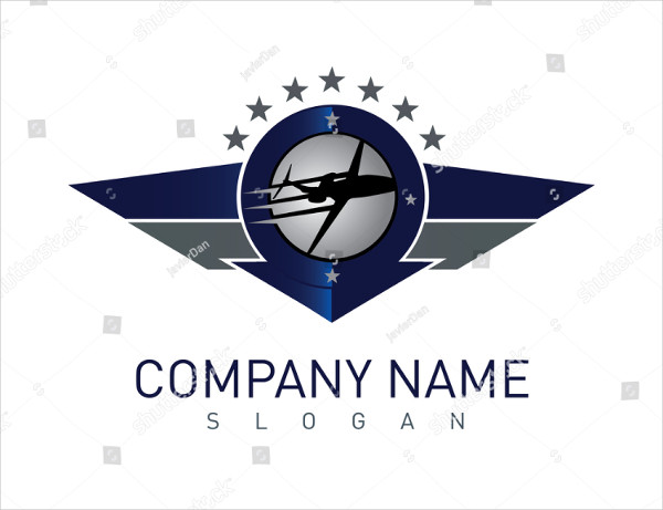 Airplane Shield Logo Template