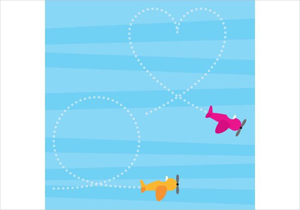 Airplanes Vector Drawing Free Download