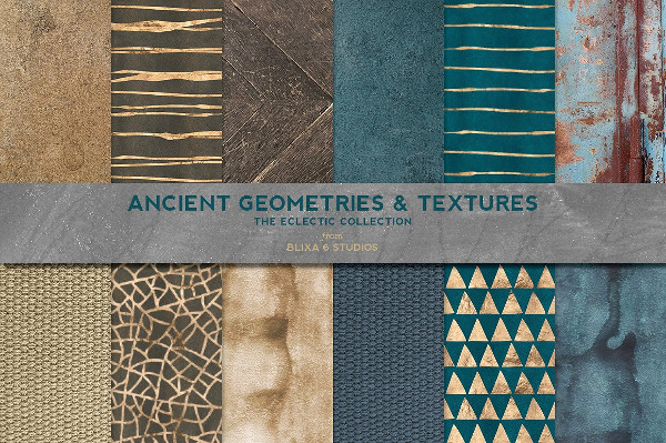 Ancient Geometric Gold & Textures