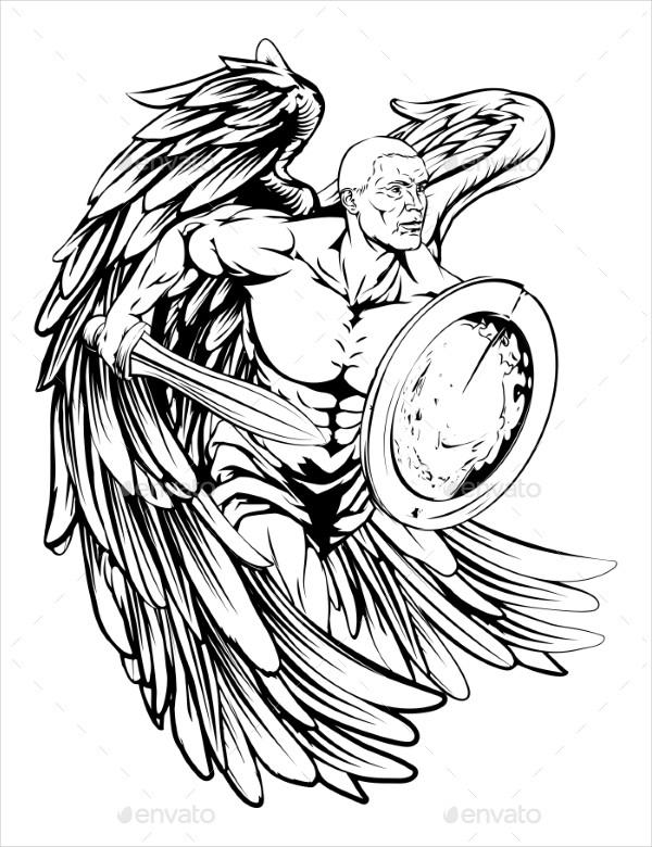 Angel Drawing Vector