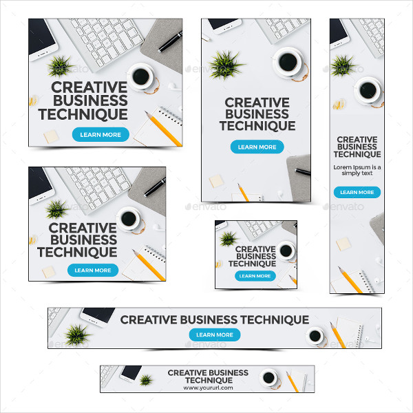 Animated Business Banners Set