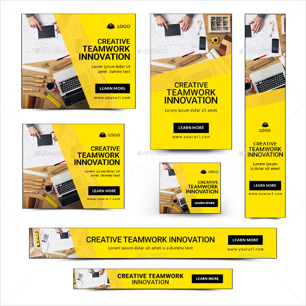 Animated Construction Business Banner Templates