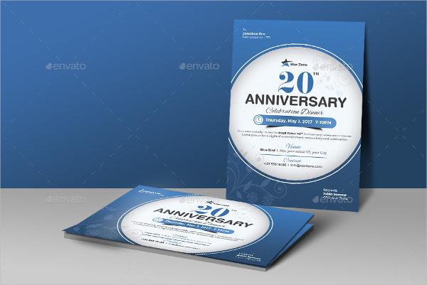 20th Anniversary Invitation Card