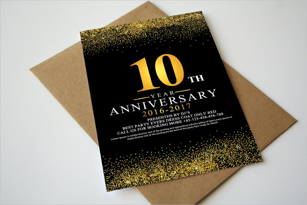 Anniversary Invitation & Rsvp Template