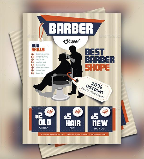 best barbershop flyer template
