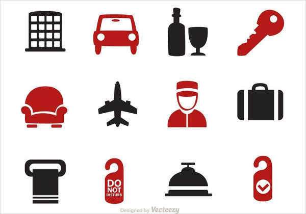 Huge Set of Hotel Vector Icons Free