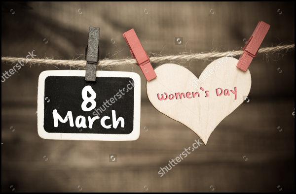Attractive Women's Day Badge